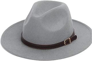 HaiNing Zheng 2Size Men Women Panama Hat Leather Belt Wide Brim Fedora Hat Wool Blend Hat Outdoor Casual Hat Top Jazz Hat