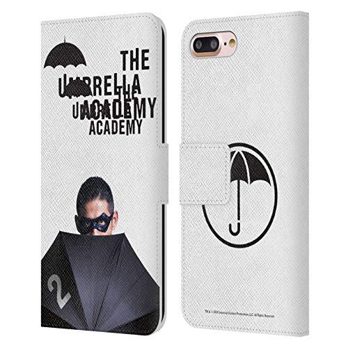 Head Case Designs Oficial The Umbrella Academy Diego Póster Carcasa de Cuero Tipo Libro Compatible con Apple iPhone 7 Plus/iPhone 8 Plus