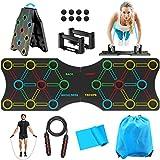 TAKRINK 19 en 1 Push-up Board Multifuncional Body Push Up Board Muscle Training con Equipo Profesional para el Entrenamiento de los Músculos Corporales de Hombres y Mujeres