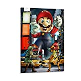 FGFGFG Super Smash Bros Mario Attack Poster Pintura decorativa Lienzo de pared para sala de estar, dormitorio pintura de 60 x 90 cm