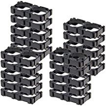 Fielect 20Pcs 18650 Lithium Cell Spacer Double Battery Holder Bracket Battery Pack Bracket, for DIY Fixed Battery