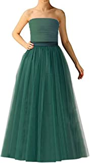 Wedding Planning A-line Maxi Long Tulle Skirt for Women Foor Length Evening Party Skirts