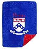 DORMITORY 101 U Penn Premium Quality Plush Fleece Blanket - X Large 60'X80'. Fits Queen or Twin XL Bedding. Great Gifts!