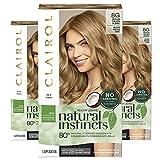 Clairol Natural Instincts Semi-Permanent, 8G Medium Golden Blonde, Sunflower, 3 Count