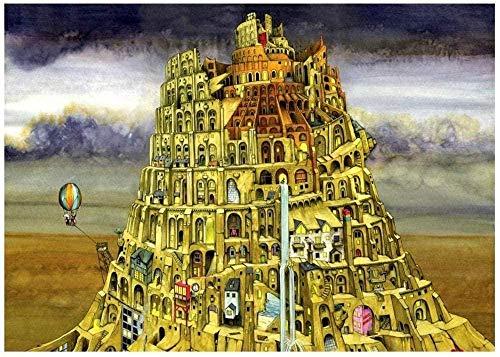 Puzzles Torre De Babel |Puzzle De 1000 Piezas para Adultos, Adolescentes Y Familias