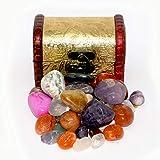 Jurassic Jacks Gemstone Treasure Chest Colorido Semiprecioso Vasos, Reiki, Chakra