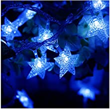 TINNZTES 4m/13ft 40 LED Star Light Fairy String Light for Hotel Home Weddings Family School Party (Blue Color)