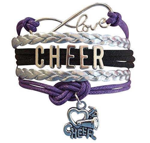 Cheer Bracelet- Cheerleading Infinity Adjustable Bracelet- Cheer Jewelry for Cheerleader