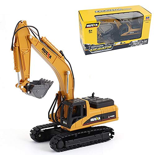 Gemini&Genius Die-cast Excavator Engineering Construction Vehicle Alloy Models Toys for Kids and Decoration for House (Excavator)