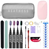 DressLksnf Nail Art UV Gel Kit Acrílico Falso Dedo Bomba Nail Glue Art Nail Pusher Tools Ki Lazy One Step Gel Set de Esmalte de Uñas En Gel