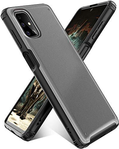 YATWIN Handyhülle Kompatibel mit Samsung Galaxy M51 Hülle, Matt Durchscheinend Anti Fingerabdruck, 4 Ecken Anti-Fall Aktualisiert Hülle, Kratzfest rutschfest Schutzhülle für Samsung M51 Hülle(Schwarz)
