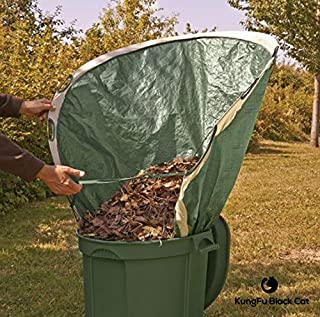 CSDust2 Leaf Collector and Lawn Garden Bag - (Pop Up) Multipurpose Garden Tool, Trash, Waste Collection Bucket | Foldable ...