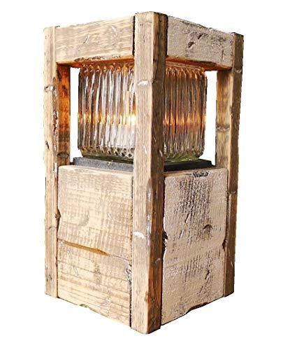 Holzlaterne mit Glas |Holzlaterne mit Glas 27 cm | Höhe 27 cm |Braun| Dekorationsartikel für Haus und Garten |