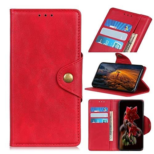 Happy-L Funda para Xiaomi 11, cierre magnético, estilo libro, funda tipo cartera de piel sintética con soporte para tarjetas y soporte para Xiaomi 11 (color: rojo)