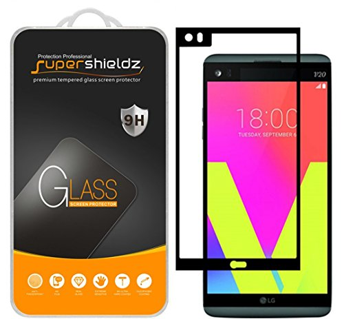 (2 Pack) Supershieldz Designed for LG V20 Tempered Glass Screen Protector, (Full Screen Coverage) Anti Scratch, Bubble Free (Black)