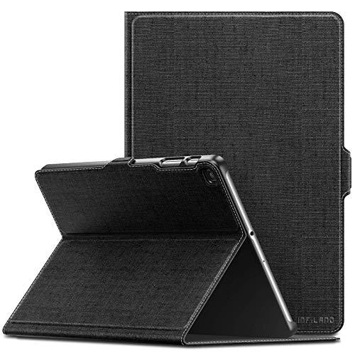 INFILAND Hülle für Samsung Galaxy Tab A 10.1 2019, Slim Ultraleicht Halten Schutzhülle Hülle kompatibel mit Samsung Galaxy Tab A 2019 (T510/T515) 10.1 Zoll,Schwarz