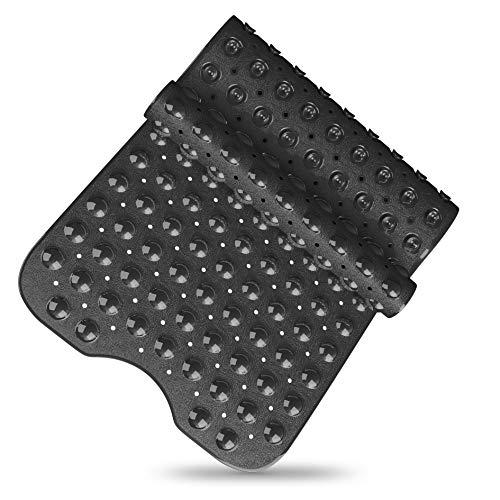 SilverRack Badewannenmatte DermaSensitivo 100% BPA frei (schwarz) - Badewanneneinlage rutschfest 100x40 cm für Kinder und Baby - Duschmatte Antirutschmatte für sicheren Halt in der Badewanne