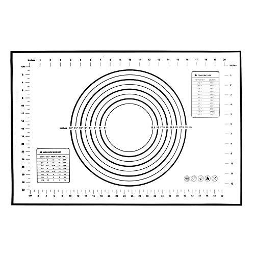 N / E 60 x 40 esteras de silicona para amasar, base antideslizante para hornear y mascarillas con base para hacer caspa