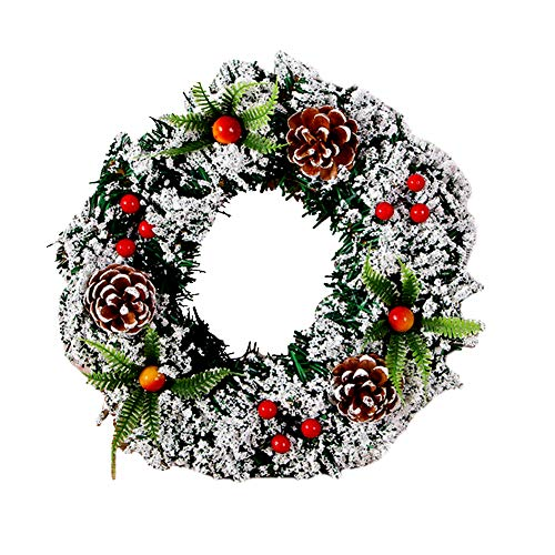 LICHENGTAI Corona de Navidad de 40 cm, Corona de Adviento de Navidad Calendario de Adviento Temporada Soporte de Vela Garland Ring Centerpiece Decoración, Navidad Fiesta Regalo