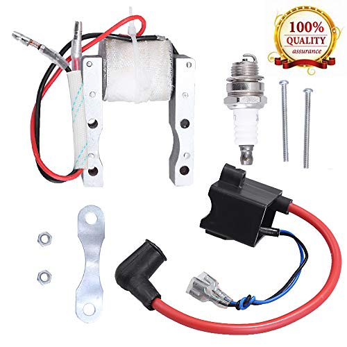 High Performance CDI Ignition Coil + Magneto Coil + Spark Plug for 49cc-80cc 2-Stroke Engine Motorized Bicycle Bike