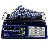 TEHWDE Cocina pequeña balanzas electrónicas ScalesLED de Doble Cara de la...