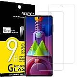 NEW'C 2 protectores de pantalla de cristal para Samsung Galaxy M51 (6.7'), antiarañazos, antihuellas, sin burbujas, dureza 9H, ultratransparente de 0,33 mm, vidrio templado ultrarresistente