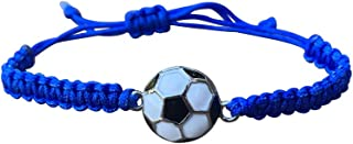 Soccer Bracelet, Soccer Jewelry, Adjustable Unisex Soccer...