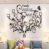 Phoking Family Tree Wall Decor Picture Frames Family Tree photo Frame for Living Room Antlers Family Tree Wall Decor Family Photo Frames for Bedroom 3D DIY Stickers Decorations Art for Living Room