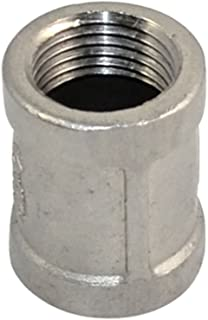 Coupling Stainless Steel 304 Threaded Pipe Fitting,1/2