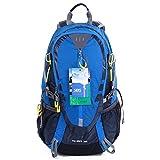 EGOGO 30L Wasserdicht Wanderrucksack Camping Rucksack mit Regenschutz Laufen Radfahren im freien S2316 (Blau)