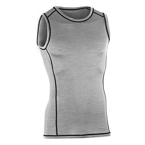 Engel Sports Bio functioneel ondergoed heren tanktop van bio merinowol en zijde met elastaanaandeel