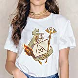 T-Shirt Critical Gaming Short Sleeve Female Tops Tees Vintage T Shirts Women's T-Shirt Apply To Daily Use Exercise Running Cycling Gym Etc-M_S