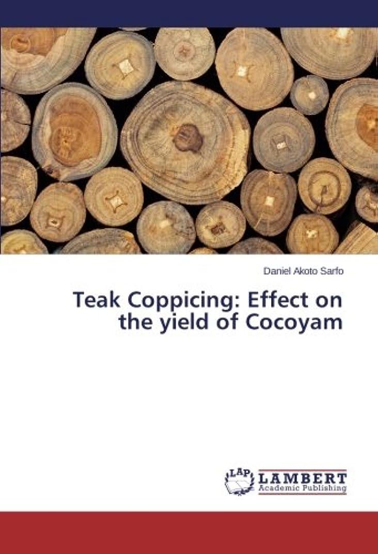 矩形汚れる意味するTeak Coppicing: Effect on the Yield of Cocoyam