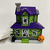 Tombstone Corners Haunted House tealight Candle Holder Halloween Village Black Cat