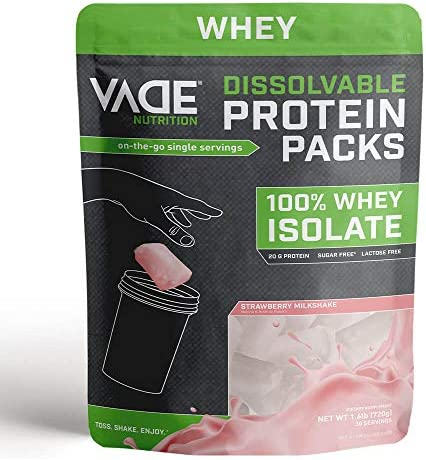 Vade Nutrition Dissolvable Protein Packs 100 Whey Isolate On The Go Precision Engineered Protein product image