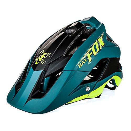 Casco de bicicleta de montaña WSJ de una pieza, color negro y verde, 56-63 cm