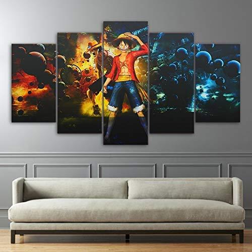 JSBVM 5 Paneles Pel/ícula Deadpool P/óster Impresi/ón en Lienzo Modular Imagen Mural Decorativo Sala Moderno Ilustraciones