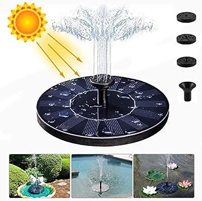 meidong Solar Fountain Water Pump for Bird Bath, New Upgraded Mini Solar Powered Fountain Pump