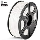 SUNLU ABS 3Dプリンタフィラメント、ABSフィラメント1.75 mm、3D印刷フィラメント3Dプリンタ用3Dフィラメント、白色ABS