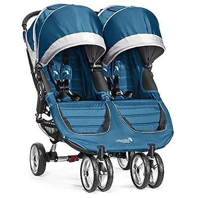 Baby Jogger City Mini Gemelar - Silla de paseo, color turquesa/gris