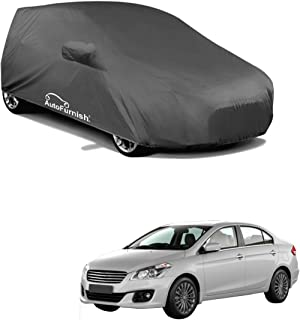 Autofurnish Grey Car Body Cover (with Mirror Pockets) Compatible with Maruti Ciaz - Grey
