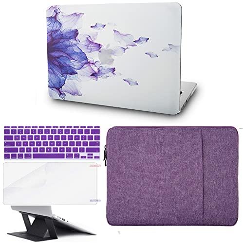 KECC - Funda para portátil MacBook de 16 pulgadas (2020/2019) con funda para teclado + funda + protector de pantalla + soporte para portátil (5 en 1 paquete)