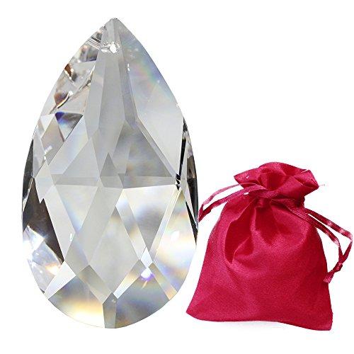 Christoph Palme Leuchten Kristall Pendel 63mm Crystal Wachtel im feinem Geschenkbeutel Regenbogenkristall zum aufhängen Fensterschmuck für Feng Shui und Waldorf Kristallglas