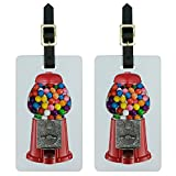 Graphics & More Gumball Machine Luggage Tags Suitcase Carry-on Id, White, One Size
