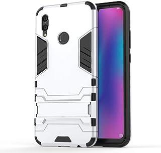 Kickstand Hybrid TPU Case Cover Huawei Honor 10 lite - Silver