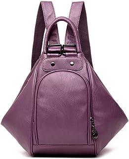 Backpack,2020 Women Multifunctional Backpack Female Leather Shoulder Bags School Bag for Teenage Girls Travel Back Pack,Purple,MultipurposeDurable