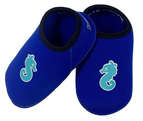 Mihatsch&Diewald ImseVimse 1 x Kinder Badeschuhe aus supersoftneopren bio garantierter perfekter Sitz blau Gr. 18 - 24 Monate