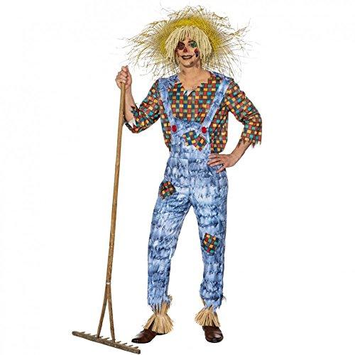 Kostüm Vogelscheuche Udo Gr. 50- 60 Latzhose Hemd Mottoparty Garten Karneval (58/60)