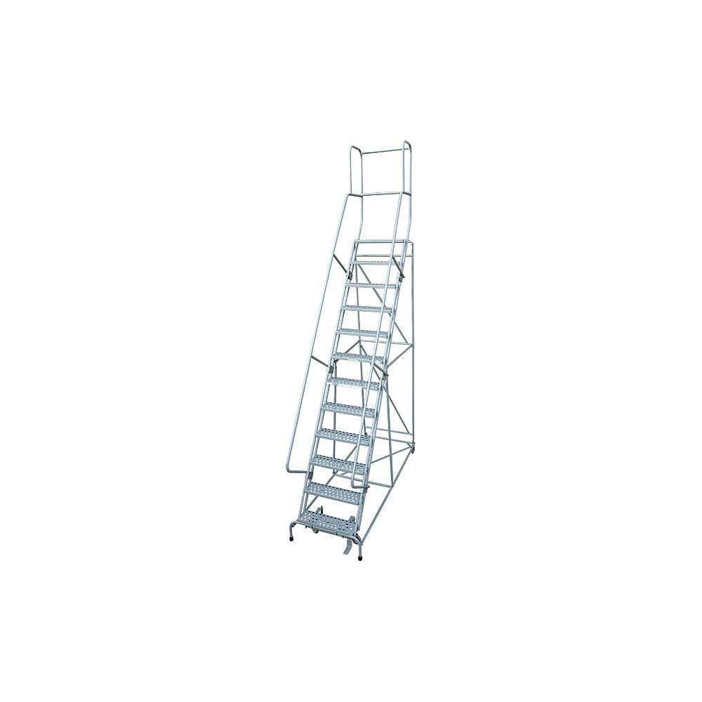 Rolling Ladder Steel 162In. Max 54% OFF Sales for sale H. Gray