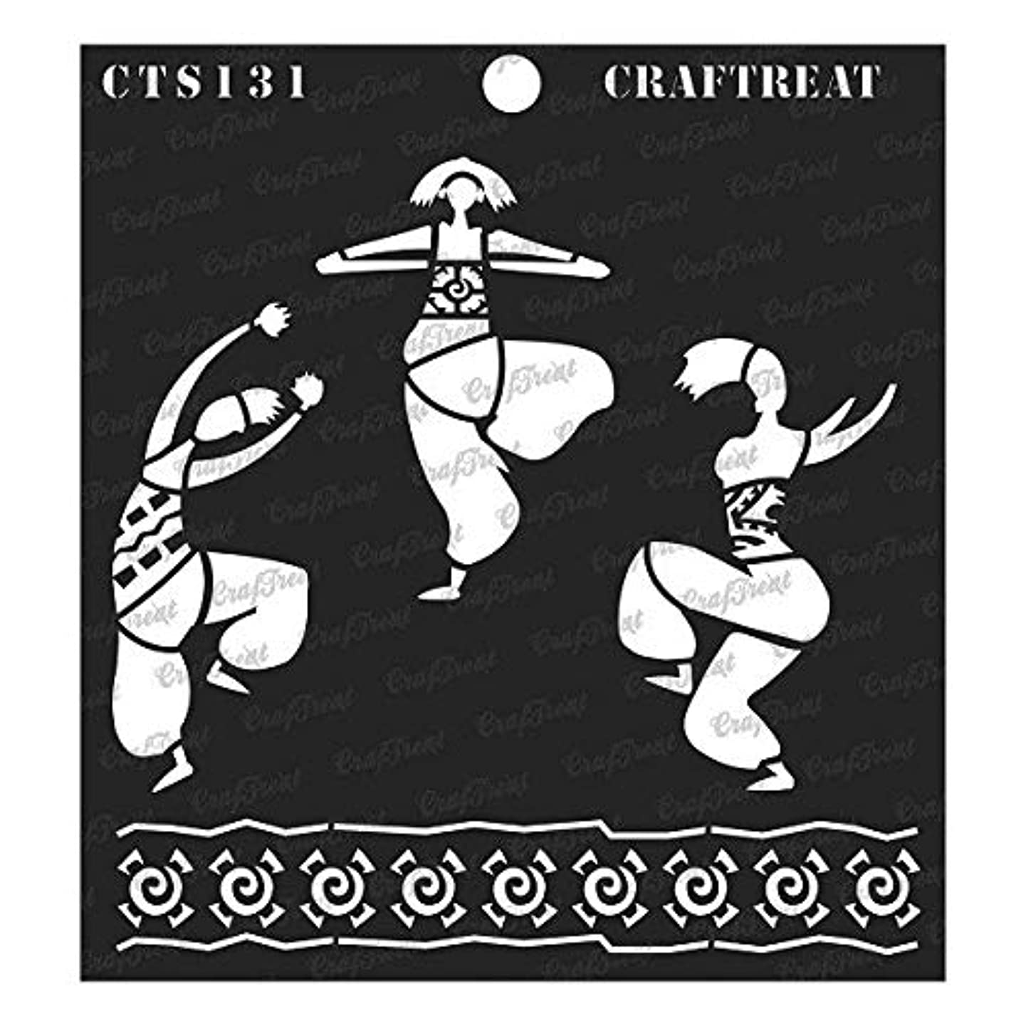 CrafTreat Stencil - Joy of Dancing | Reusable Painting Template for Journal, Notebook, Home Decor, Crafting, DIY Albums, Scrapbook and Printing on Paper, Floor, Wall, Tile, Fabric, Wood 6